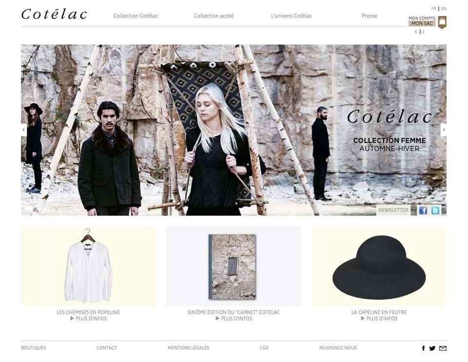 Page d'accueil du site Cotélac