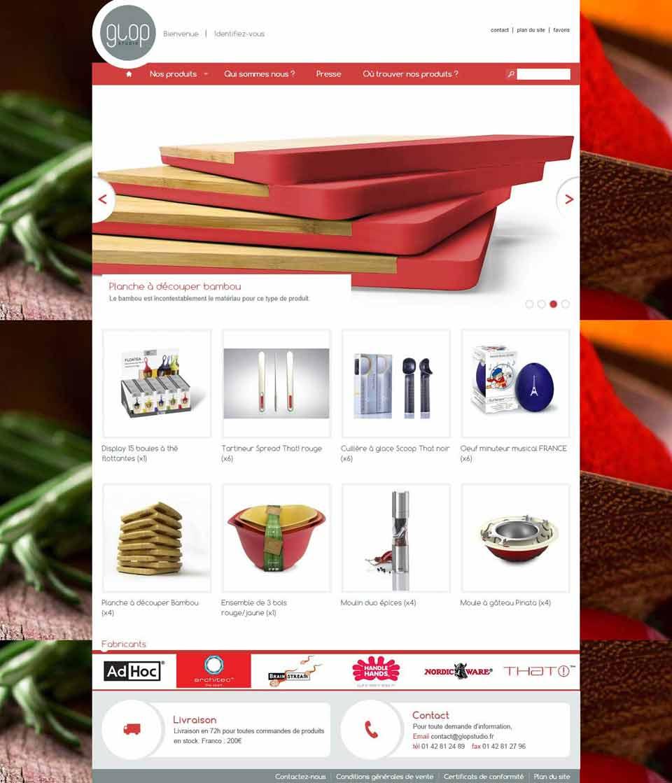 Page d'accueil de Glop Studio